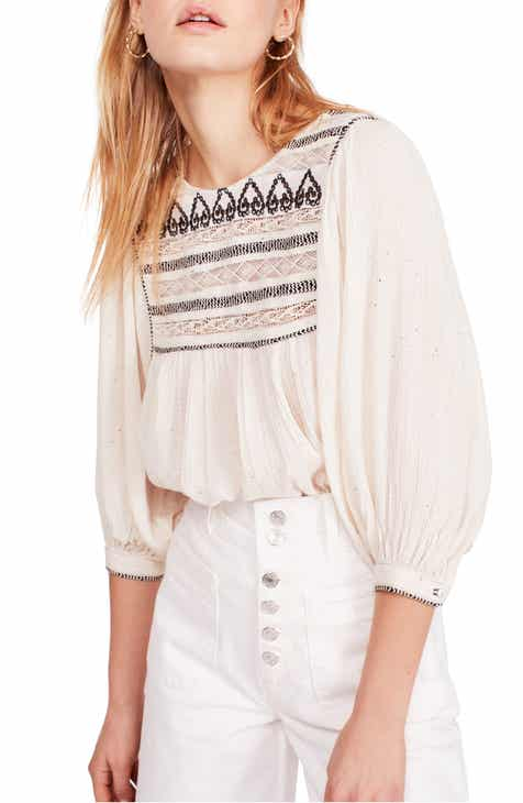 Free People Cyprus Avenue Embroidery Blouse