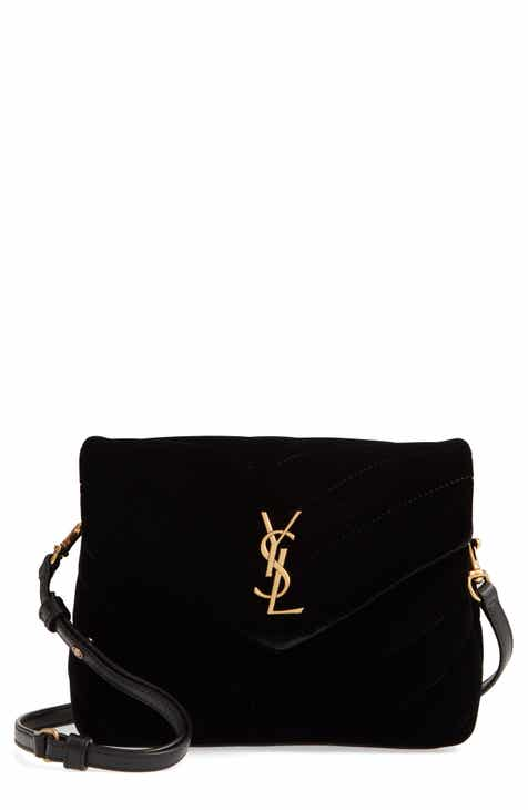 0ec31bd7ee188 Saint Laurent Toy Loulou Velvet Crossbody Bag