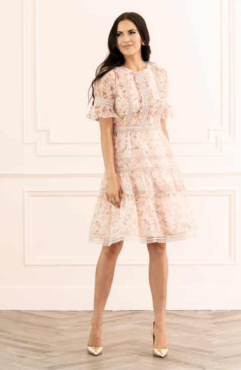 2df37c7f0 Rachel Parcell Mixed Lace Fit & Flare Dress (Nordstrom Exclusive)