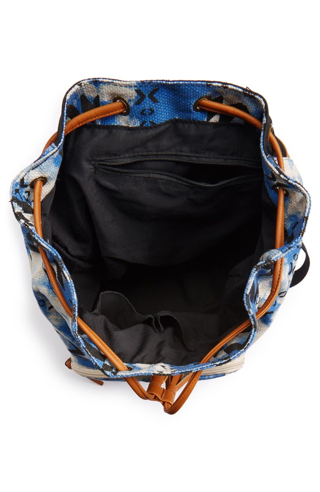 Alternate Image 3  - Lulu Geo Print Canvas Backpack (Juniors)
