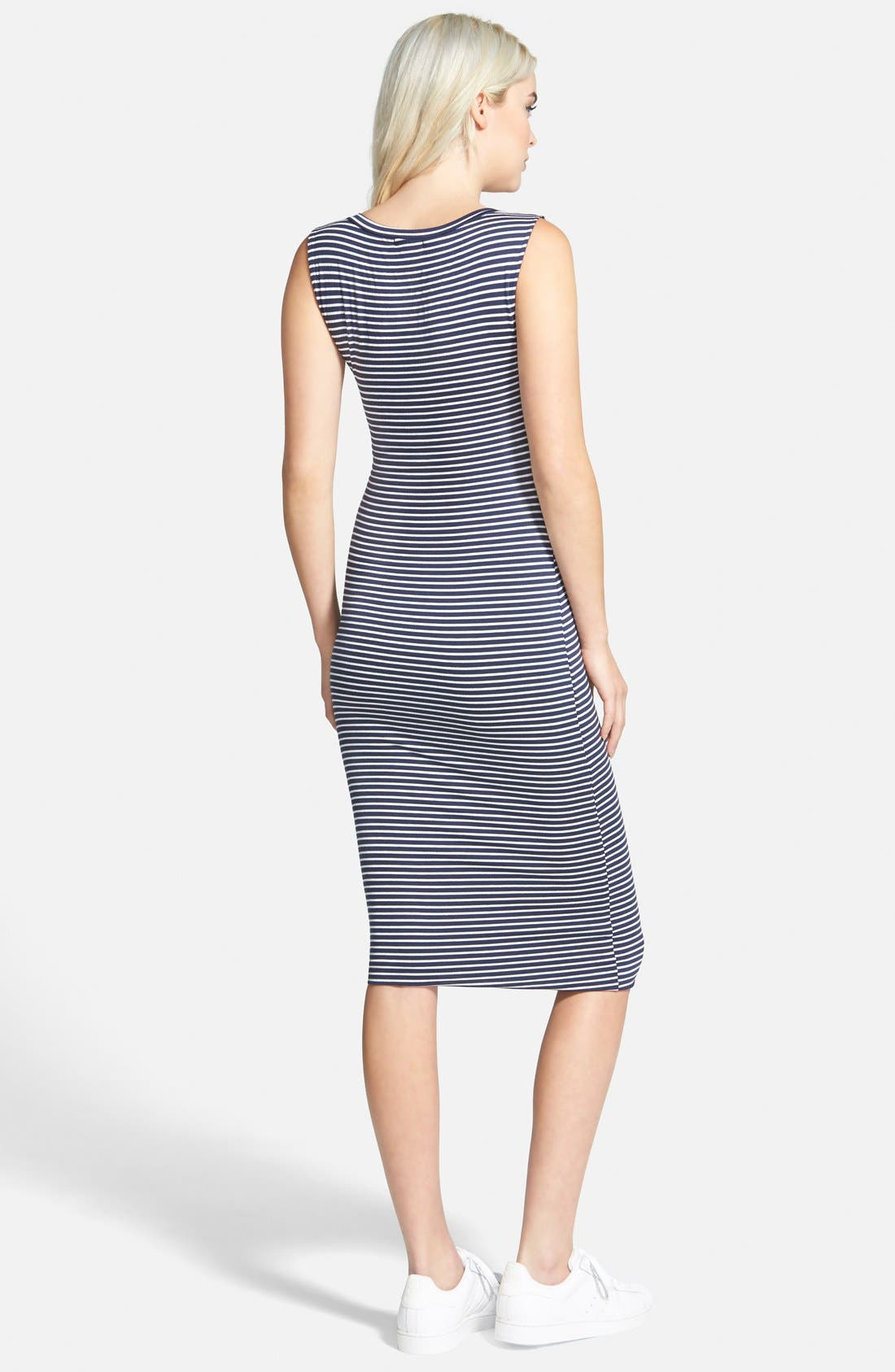 Alternate Image 2  - Leith Stripe Body-Con Dress