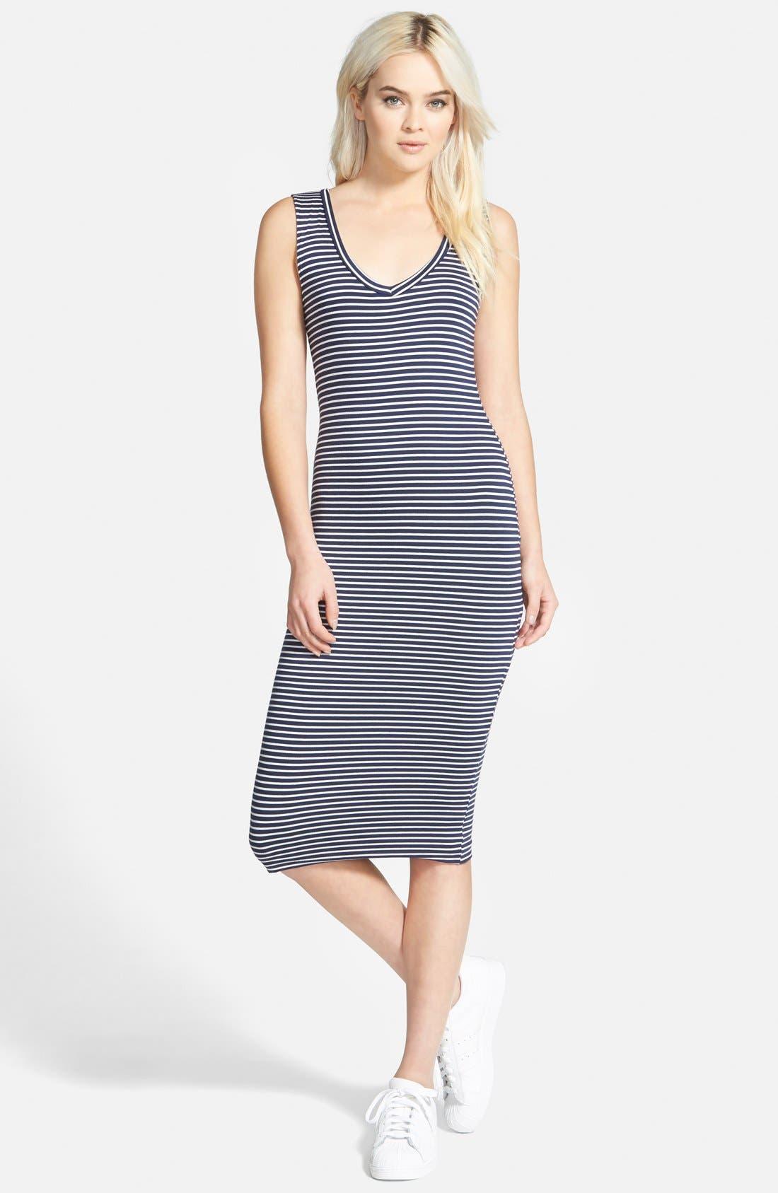 Alternate Image 1 Selected - Leith Stripe Body-Con Dress