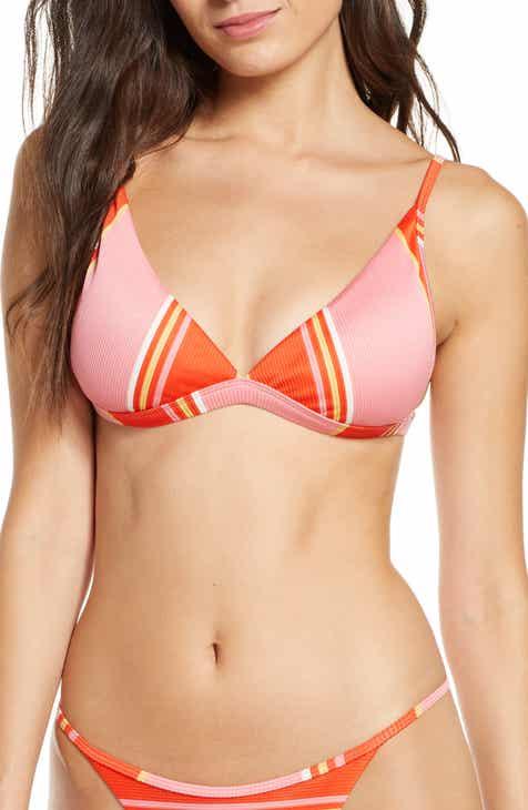 Billabong Tanlines High Point Stripe Triangle Bikini Top