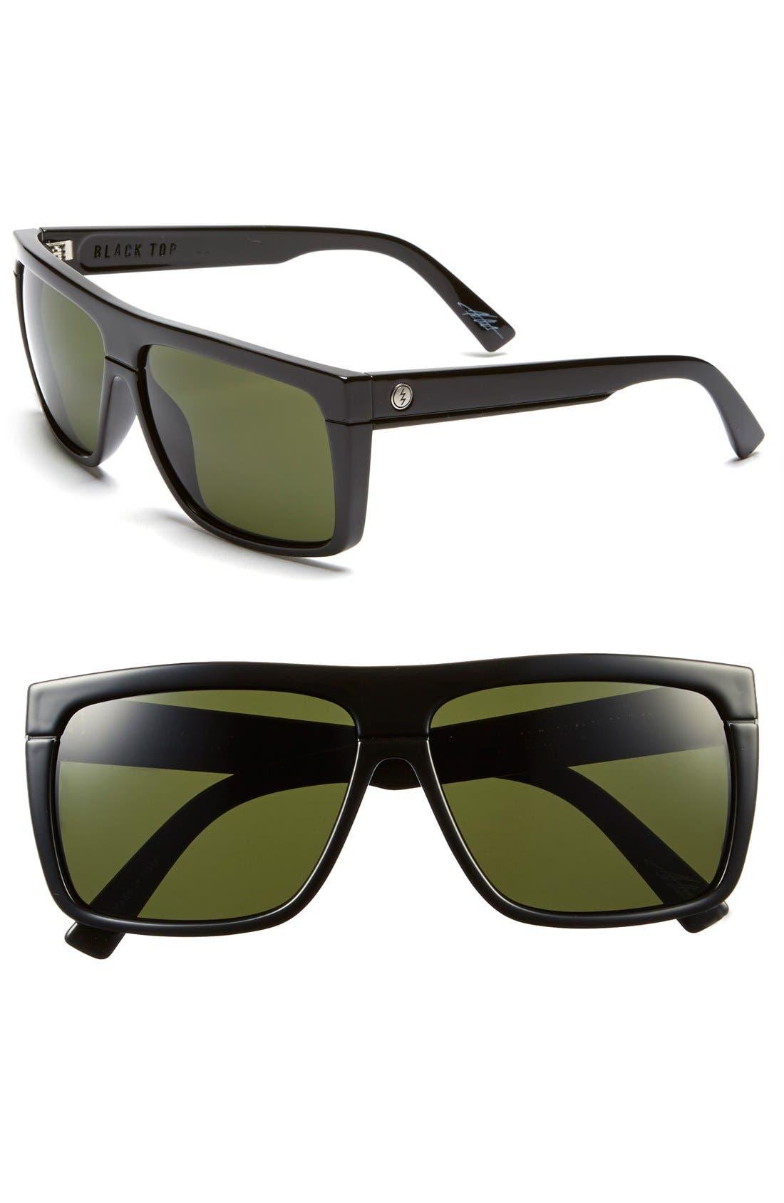 ELECTRIC 'Black Top' 61mm Flat Top Sunglasses
