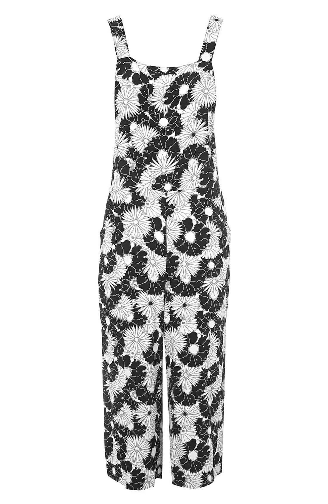 Alternate Image 3  - Topshop Floral Pinafore Jumpsuit