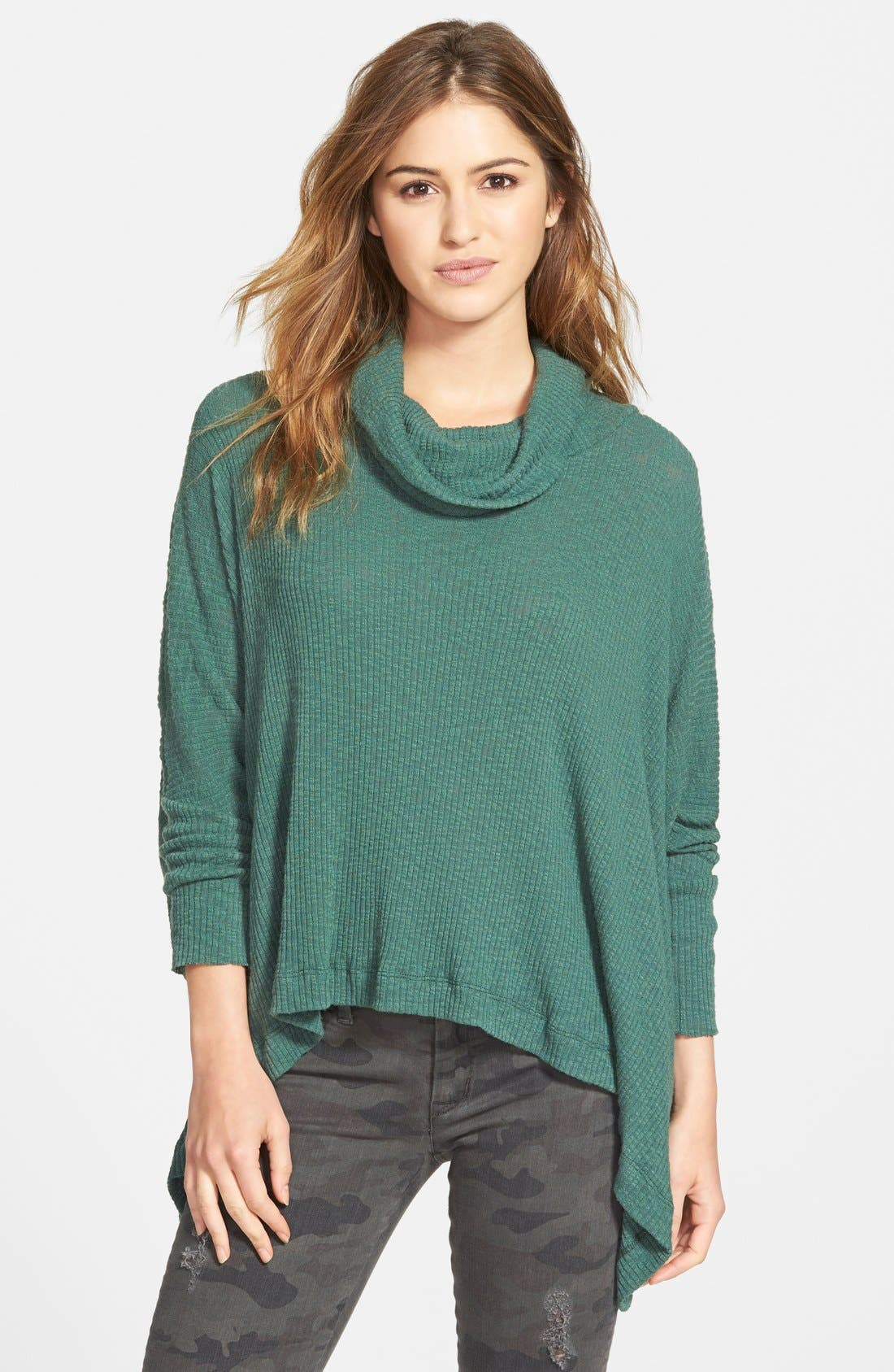 Alternate Image 1 Selected - Free People 'World Traveler' Cowl Neck Pullover