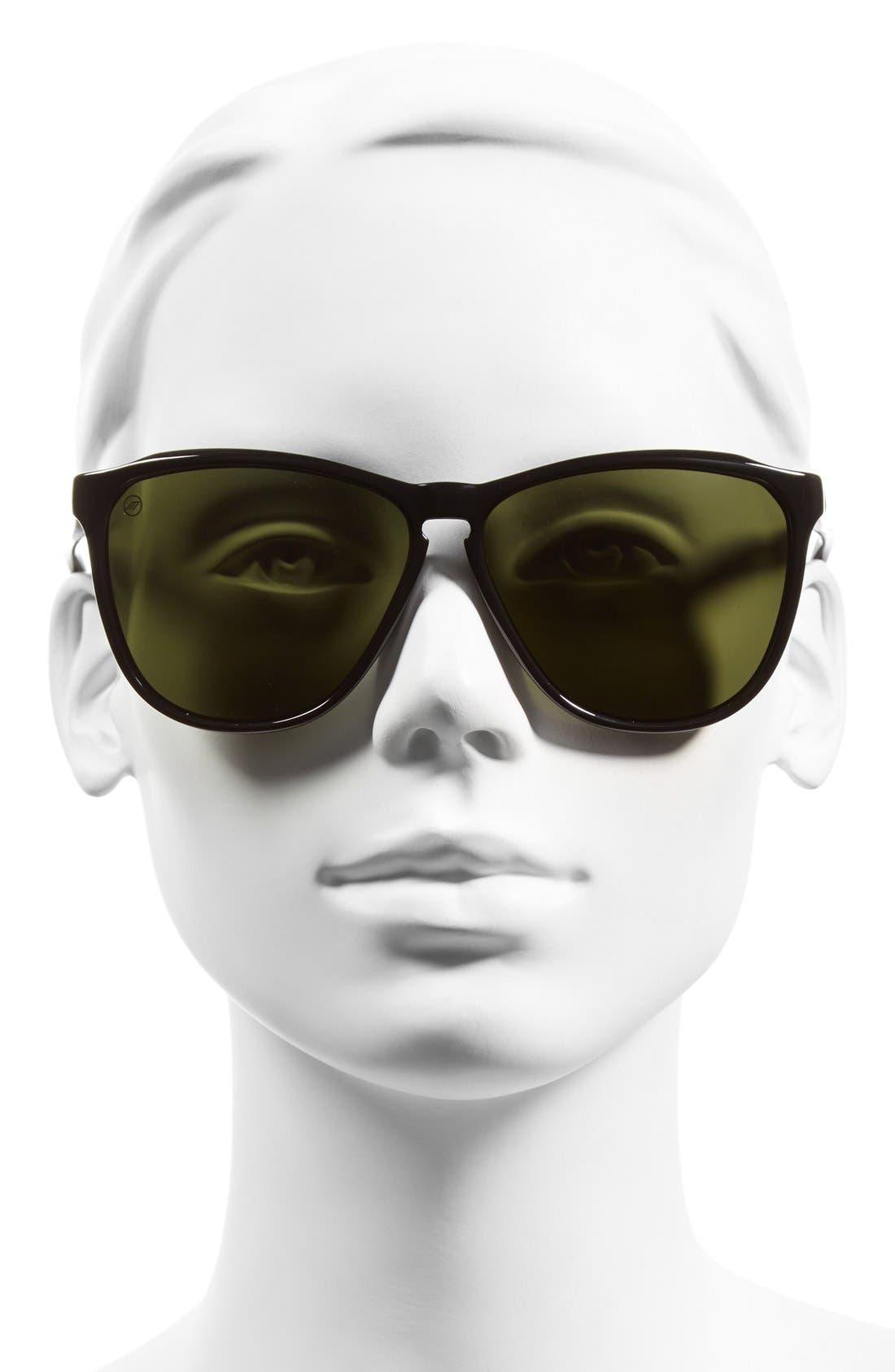 'Encelia' 61mm Retro Sunglasses,                             Alternate thumbnail 2, color,                             Gloss Black/ Grey