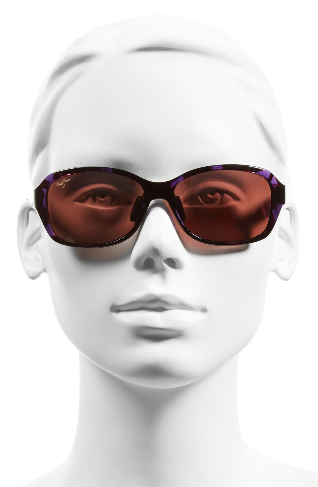Koki Beach 56mm PolarizedPlus2<sup>®</sup> Sunglasses,                             Alternate thumbnail 2, color,                             Purple Tortoise/ Maui Rose