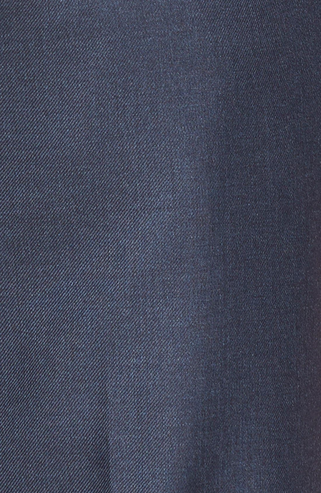 Luxury Flat Front Wool Trousers,                             Alternate thumbnail 3, color,                             Medium Blue