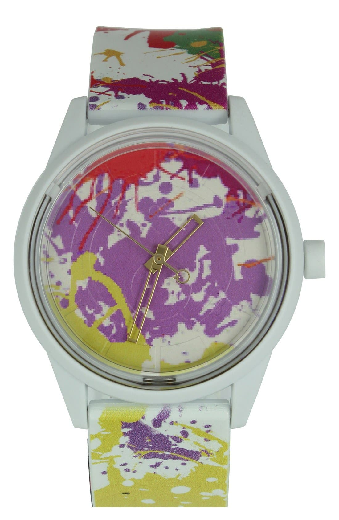 Main Image - Quest & Quality 'SmileSolar' Solar Powered Strap Watch, 40mm