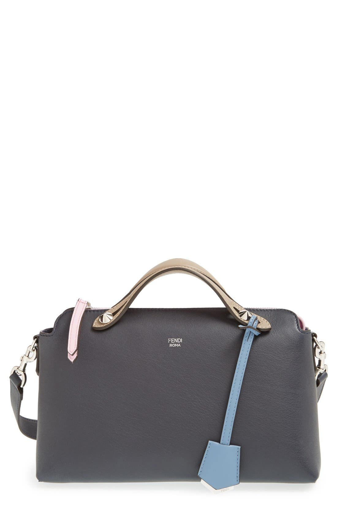 Alternate Image 1 Selected - Fendi 'Small By the Way' Colorblock Leather Shoulder Bag