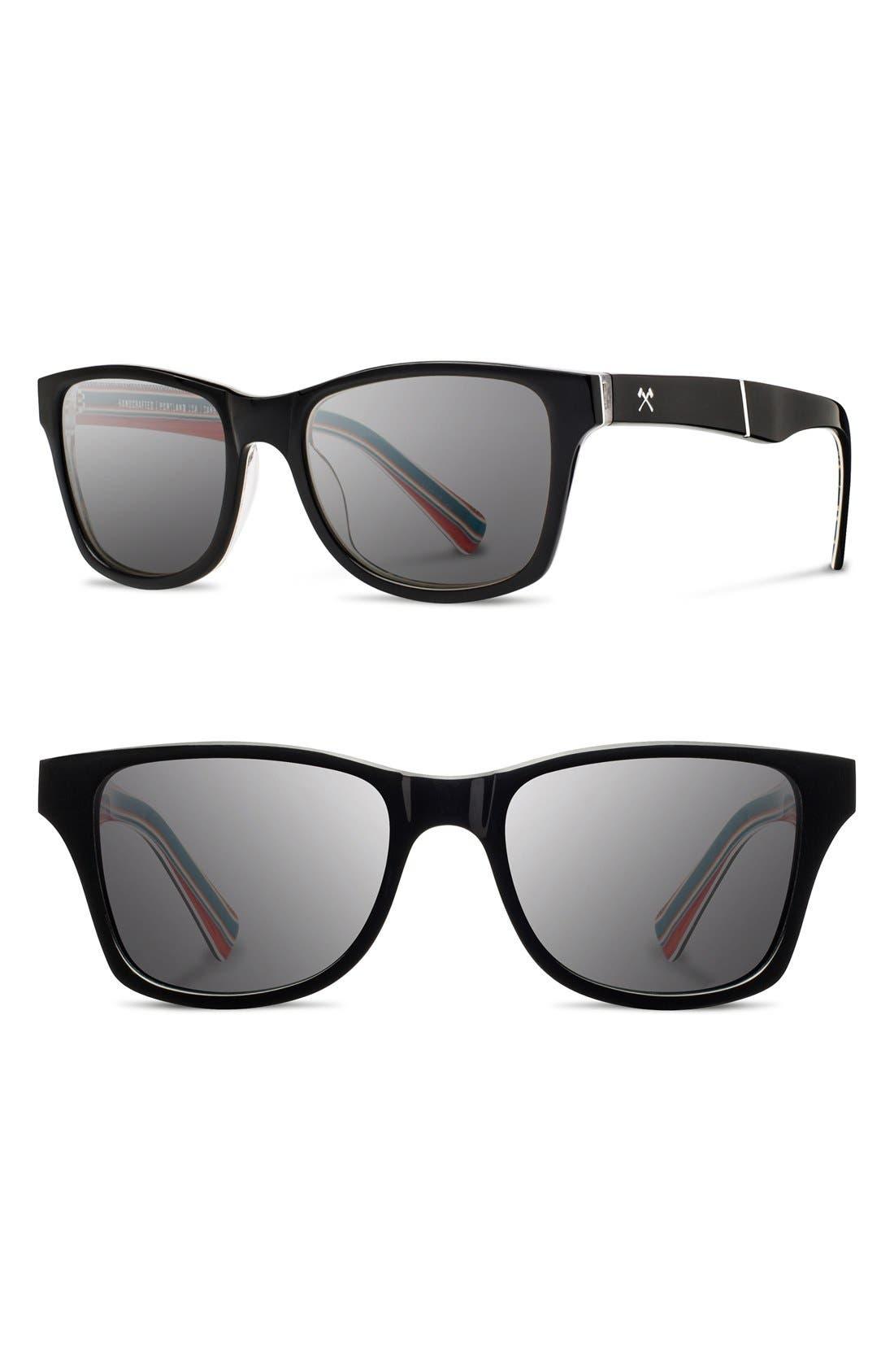 'Canby - Pendleton' 54mm Polarized Sunglasses,                         Main,                         color, Black/ Turquoise Serape/ Grey