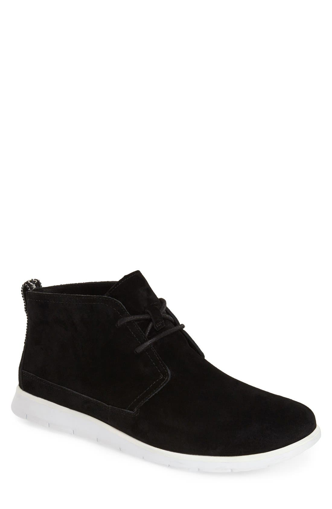 Freamon Suede Chukka Boot,                             Main thumbnail 1, color,                             Black