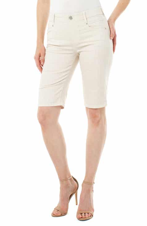 Liverpool Gia Glider High Waist Pull-On Cotton Blend Cruiser Shorts