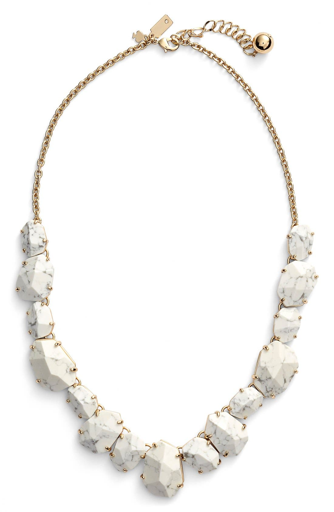 'quarry gems' frontal necklace,                         Main,                         color, White