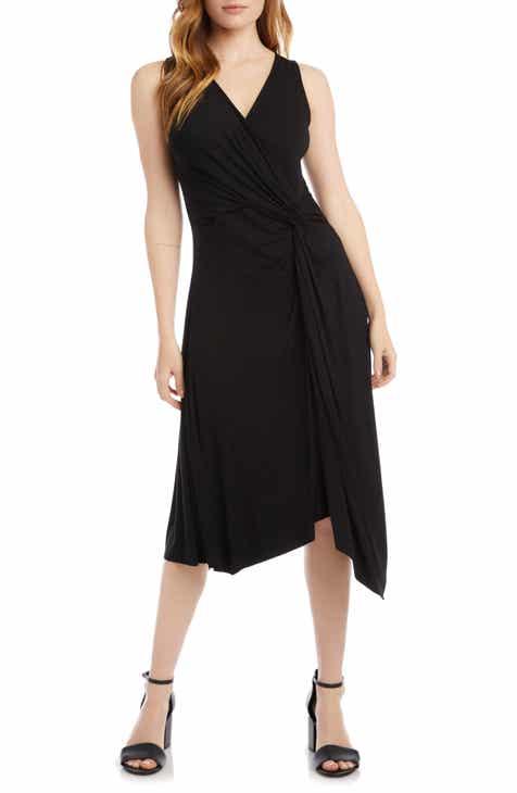 Karen Kane Asymmetrical Hem Sleeveless Dress