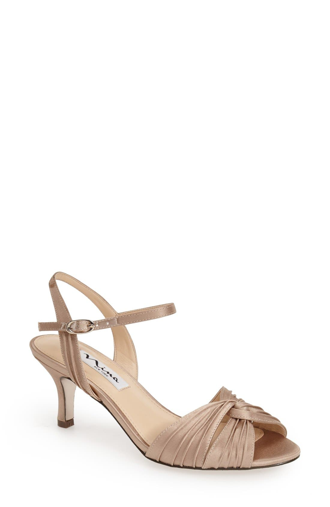 Alternate Image 1 Selected - Nina 'Camille' Pleated Sandal (Women)