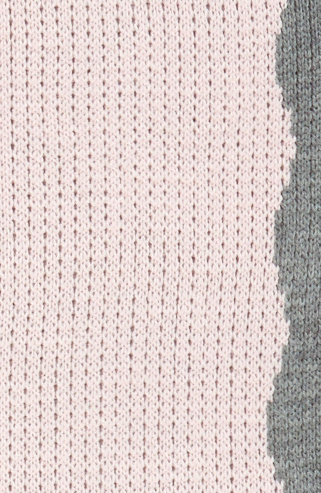'Heart' Personalized Crib Blanket,                             Alternate thumbnail 2, color,                             Pink