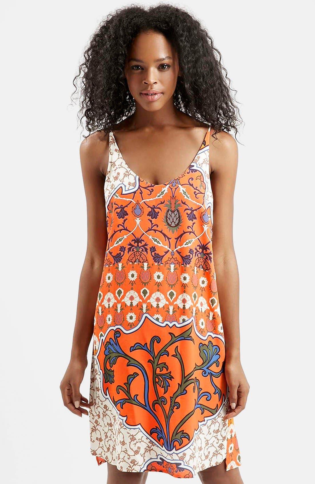 Main Image - Topshop Floral Scarf Print Sundress