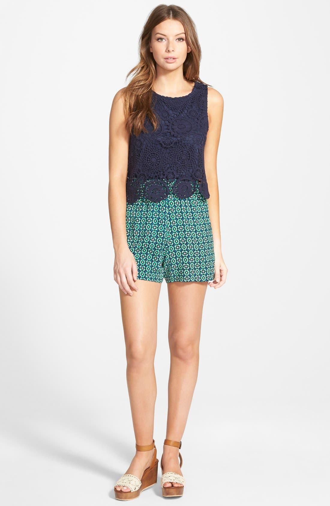 Main Image - Way-In Crochet Romper