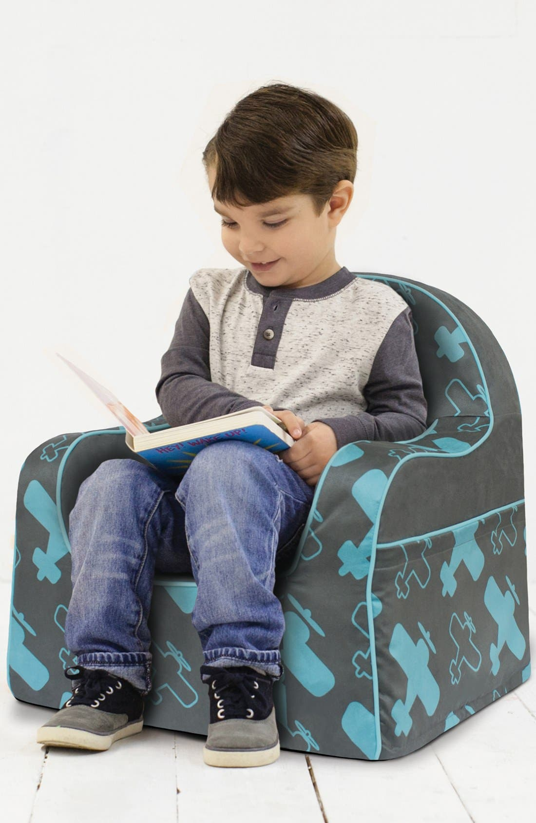 'Personalized Little Reader' Chair,                             Alternate thumbnail 2, color,                             Planes