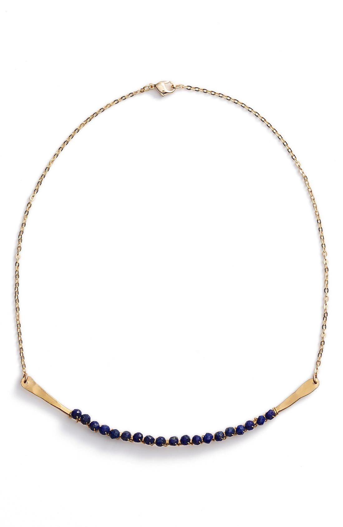 Main Image - five and two 'Phoebe' Lapis Bead Choker Necklace