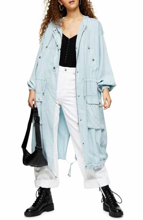 Topshop IDOL Washed Denim Anorak Jacket