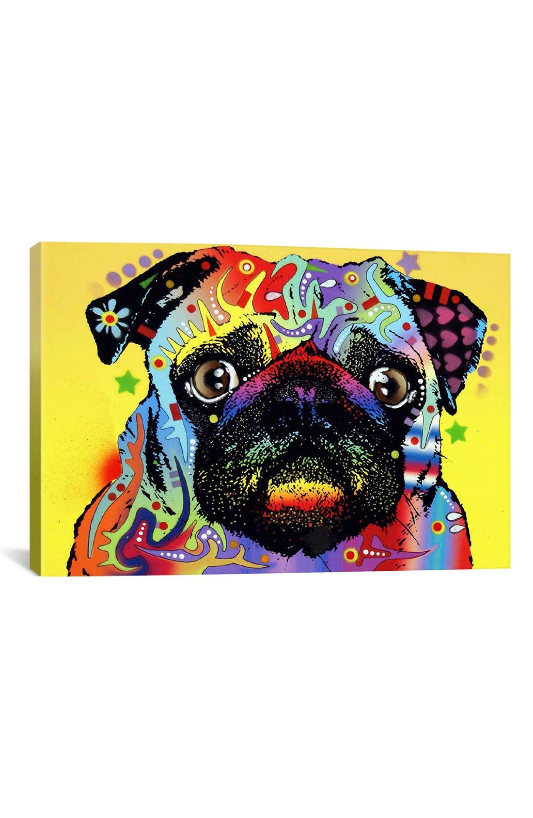 'Pug - Dean Russo' Giclée Print Canvas Art,                             Main thumbnail 1, color,                             Yellow
