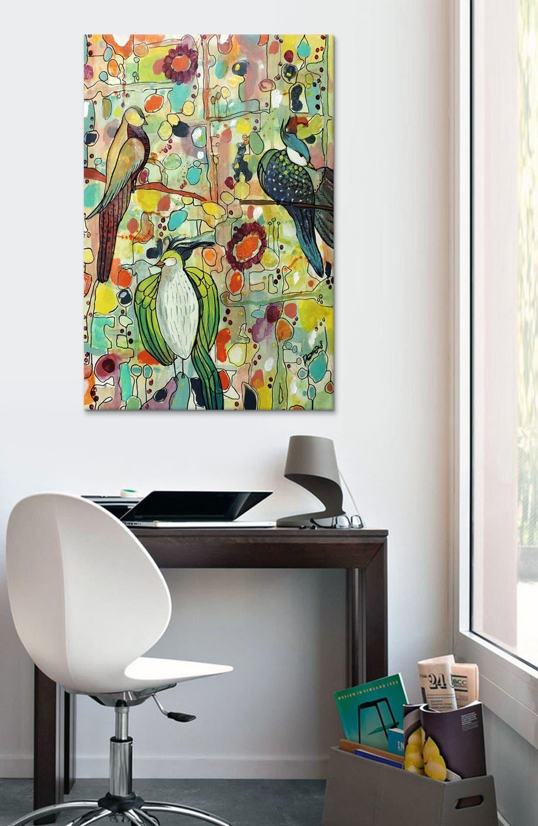 'Assemblée - Sylvie Demers' Giclée Print Canvas Art,                             Alternate thumbnail 3, color,                             Green