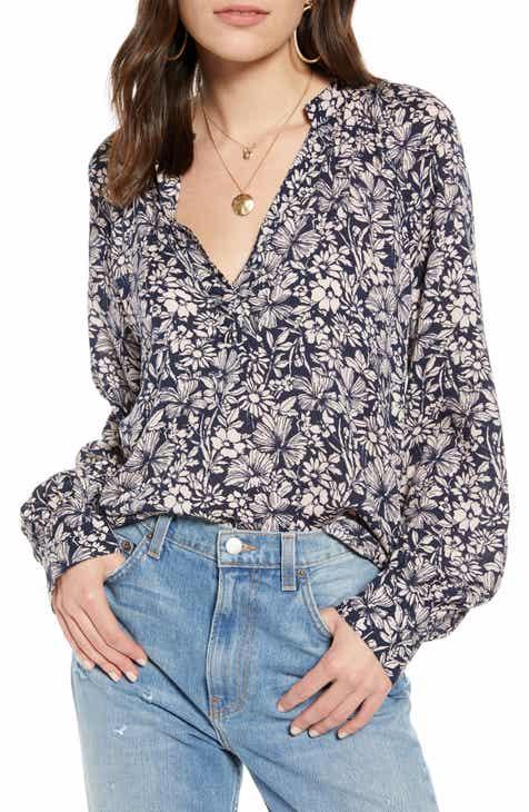 Treasure & Bond Floral Long Sleeve Blouse