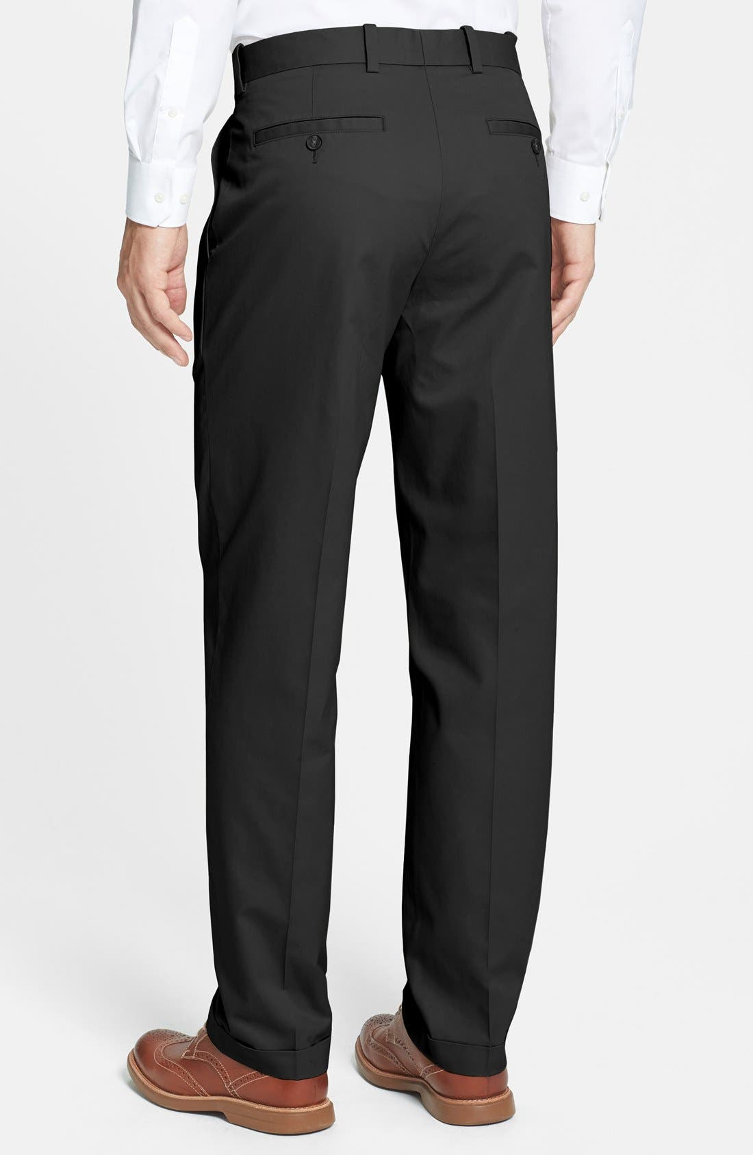 Alternate Image 2  - John W. Nordstrom® Smartcare™ Pleated Supima® Cotton Pants
