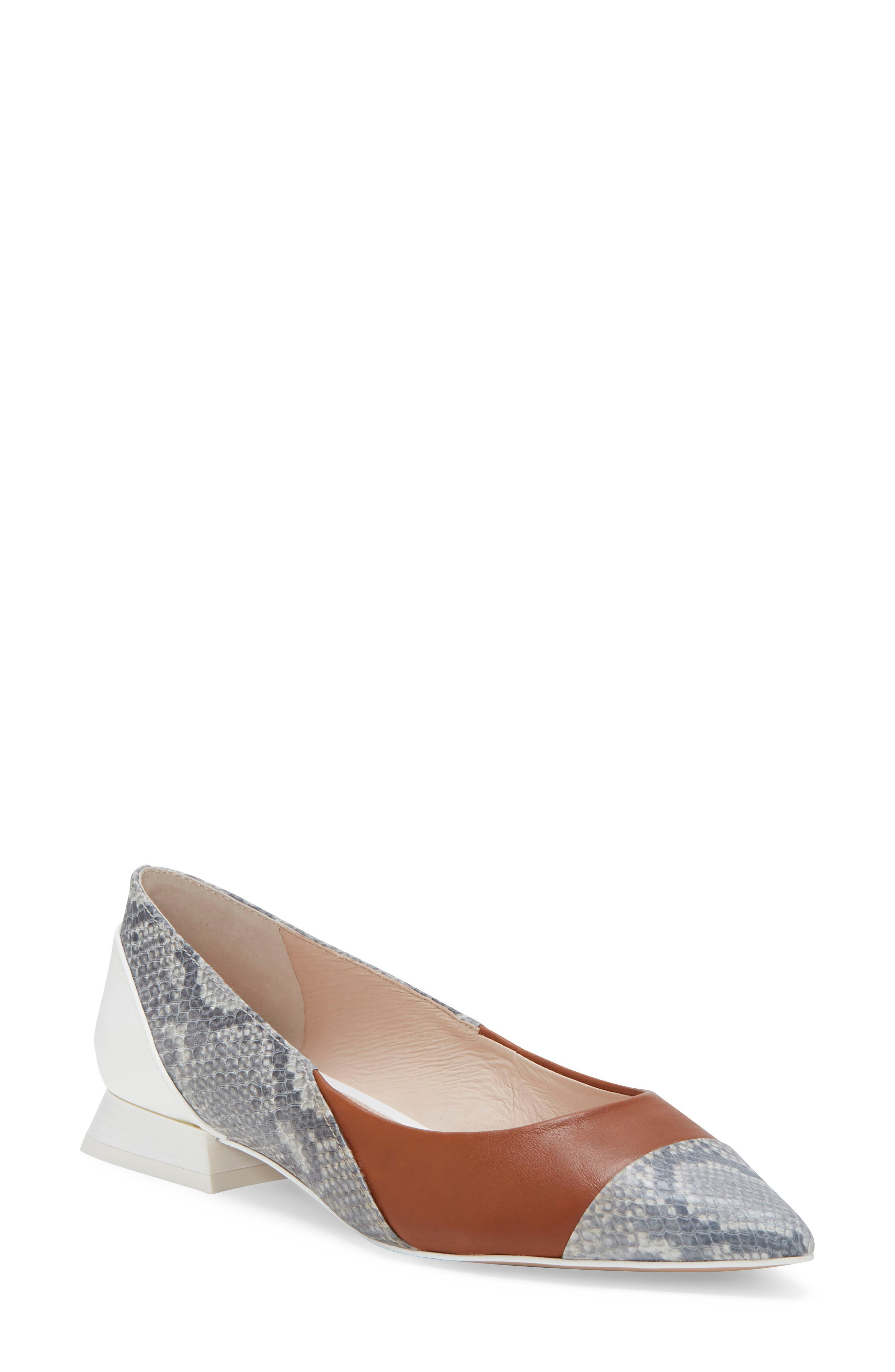 Ladies Flat Shoe With Crossover Strap Size 6 New FREE DELIVERY