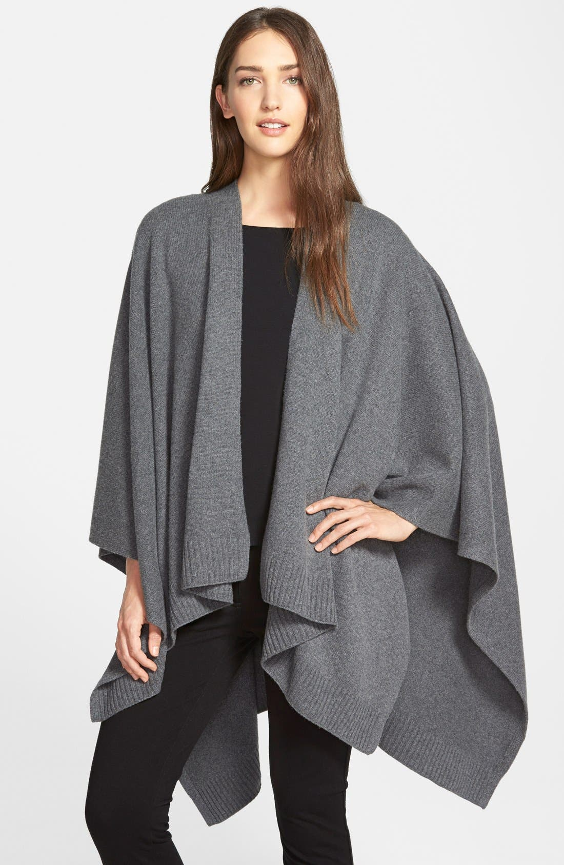 Alternate Image 1 Selected - Eileen Fisher Cozy Wool Poncho