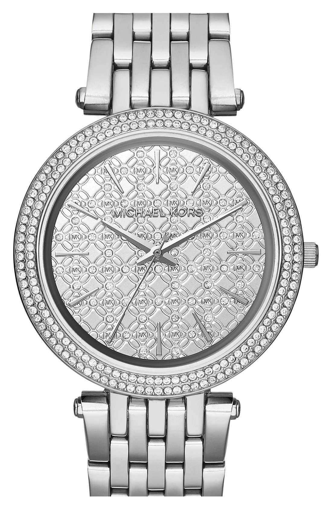 'Darci' Round Bracelet Watch, 39mm,                         Main,                         color, Silver/ Silver