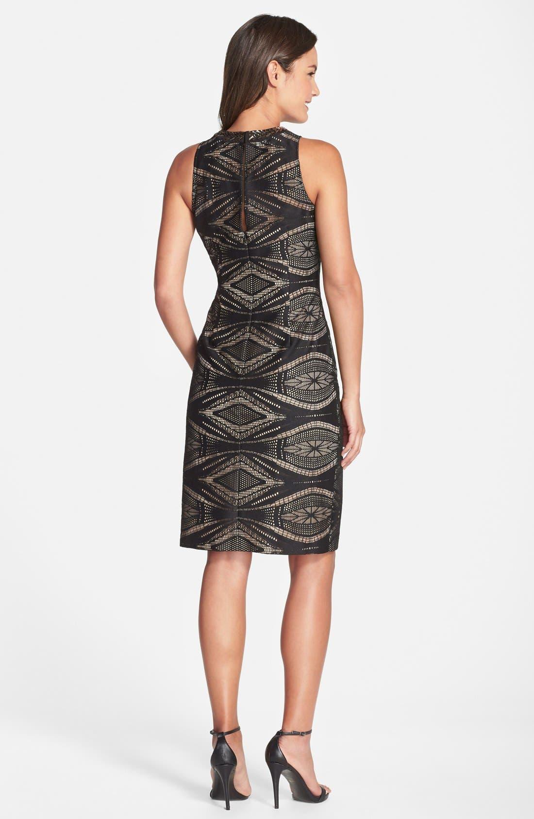 Alternate Image 3  - Maggy London Embellished Lace Sheath Dress