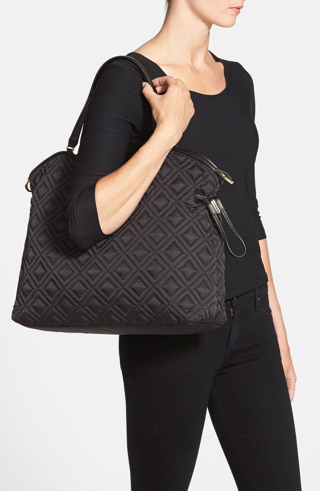 Alternate Image 2  - Tory Burch Quilted Slouchy Baby Bag