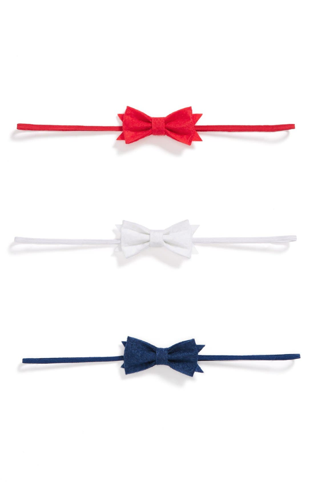 Alternate Image 1 Selected - Baby Bling Bow Headbands (Set of 3) (Baby Girls)