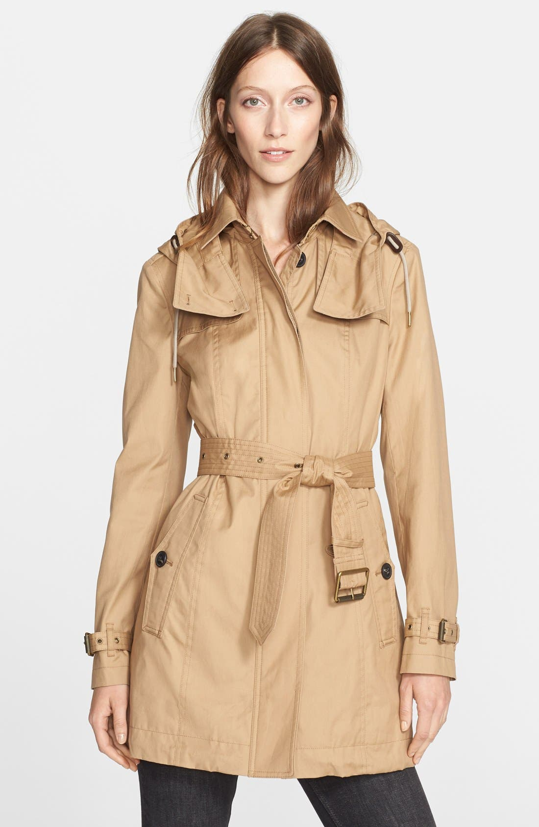 Burberry Brit Fenstone Single Breasted Trench Coat