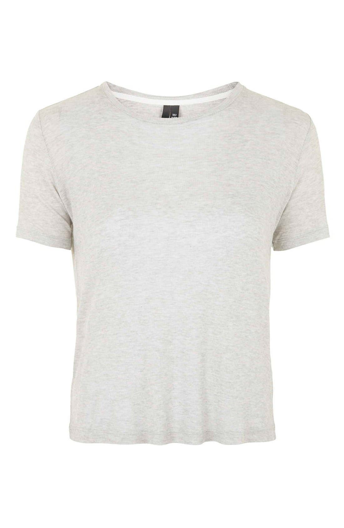 Alternate Image 4  - Topshop Boutique Rib Trim Tee