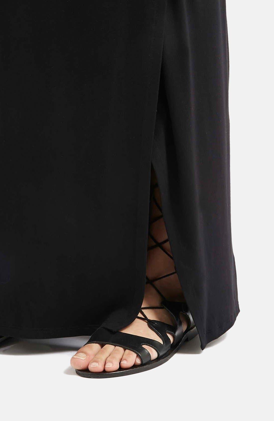 Alternate Image 4  - Topshop Slit Maxi Skirt