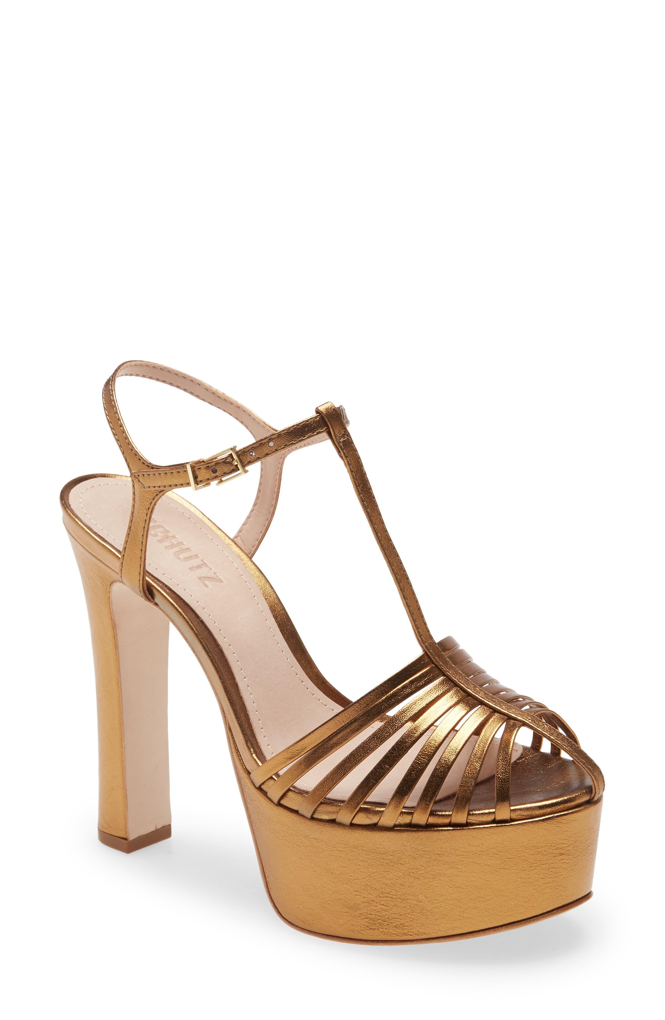 schutz lucite strap suede sandals