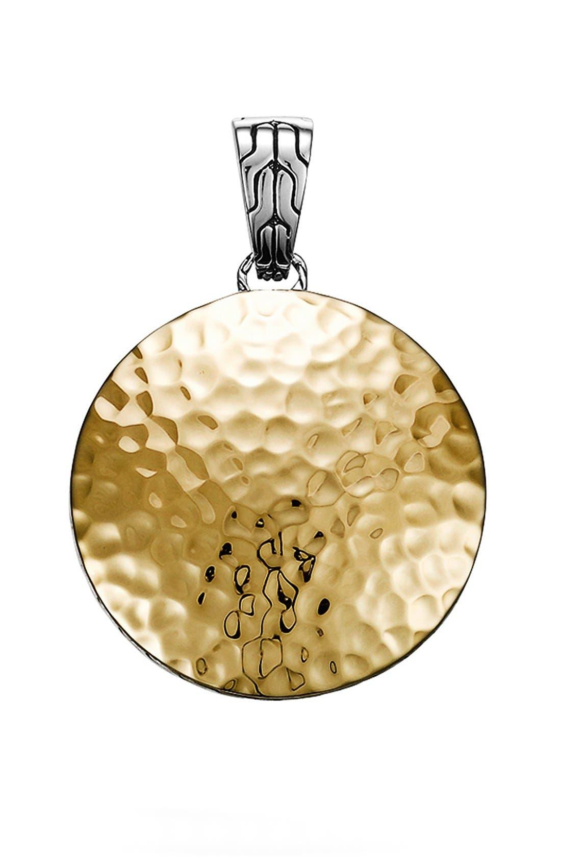 'Palu' Medium Round Pendant,                         Main,                         color, Gold/ Silver