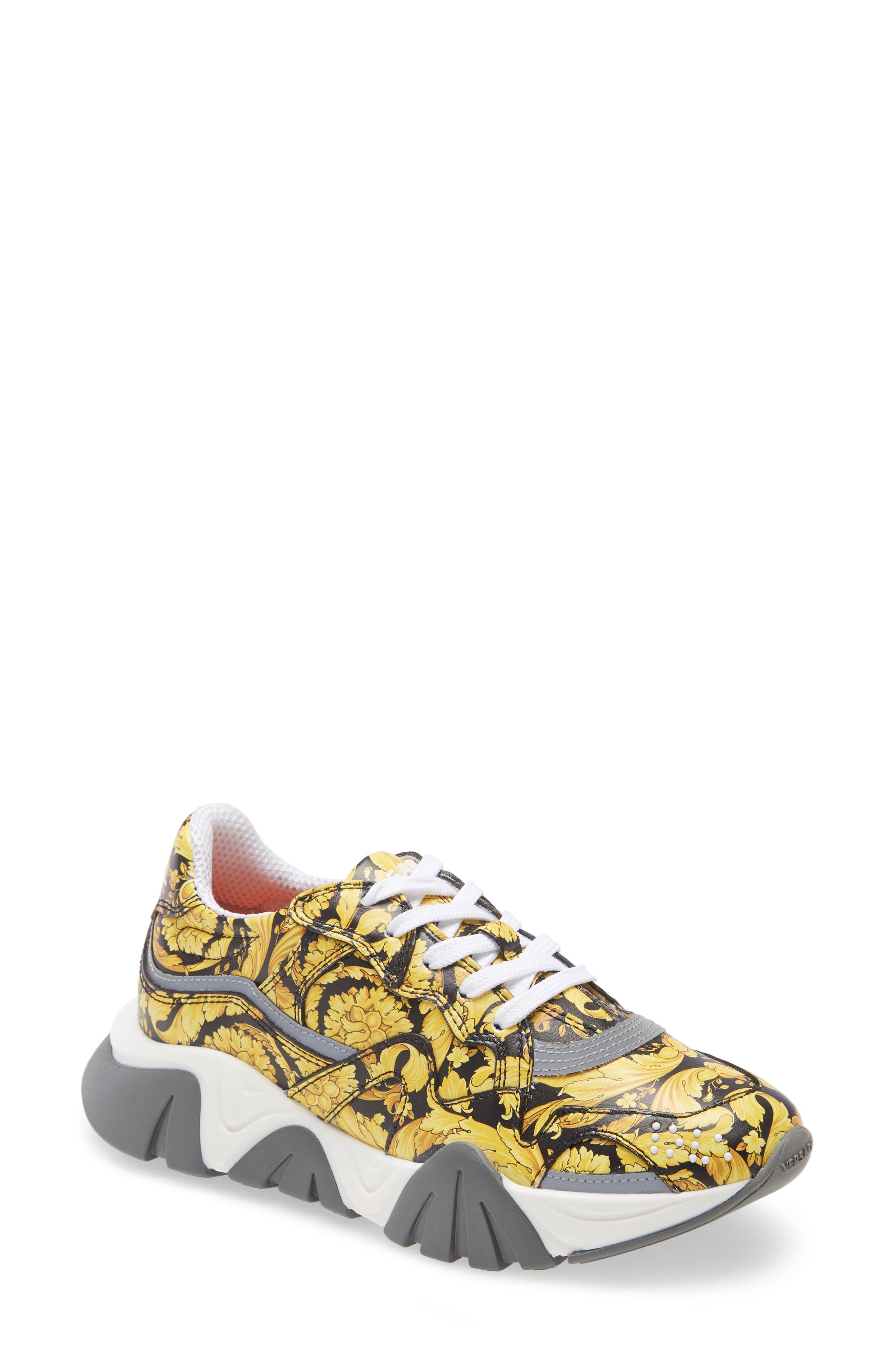 Girls' Yellow Sneakers, Tennis Shoes