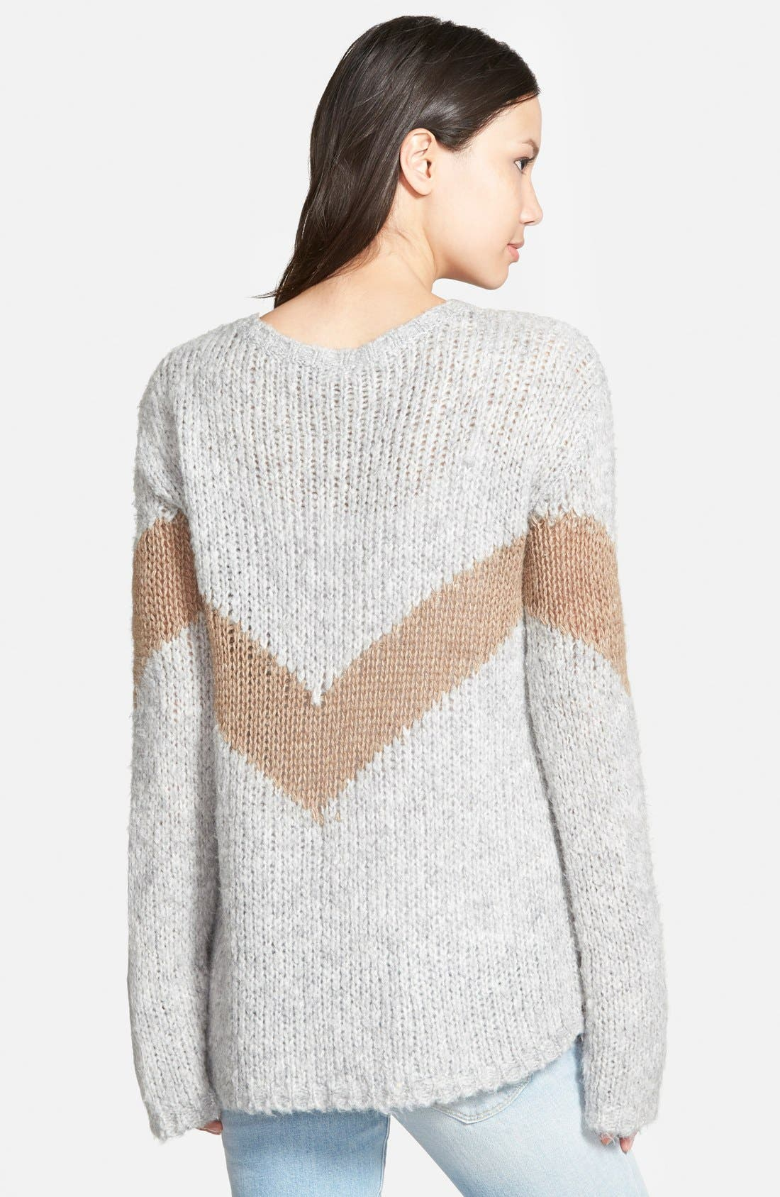 Alternate Image 2  - Pam & Gela Slouchy Chevron Sweater