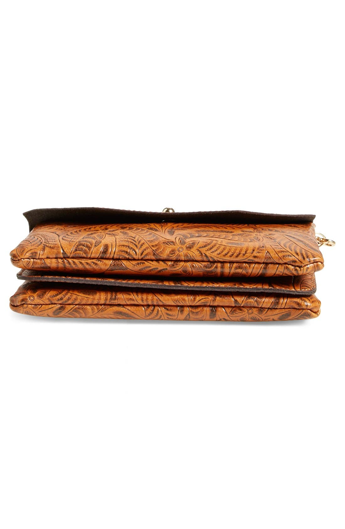 Tooled Crossbody,                             Alternate thumbnail 6, color,                             Brown