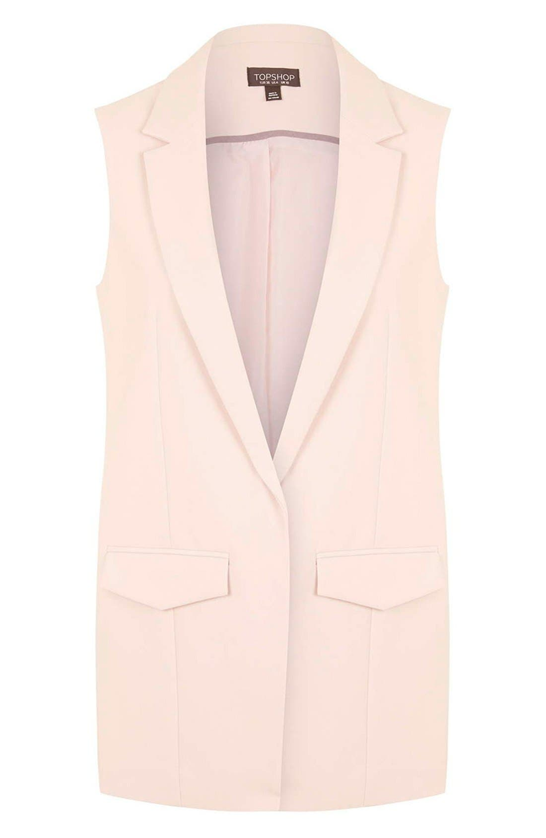 Alternate Image 4  - Topshop 'Holly' Sleeveless Jacket