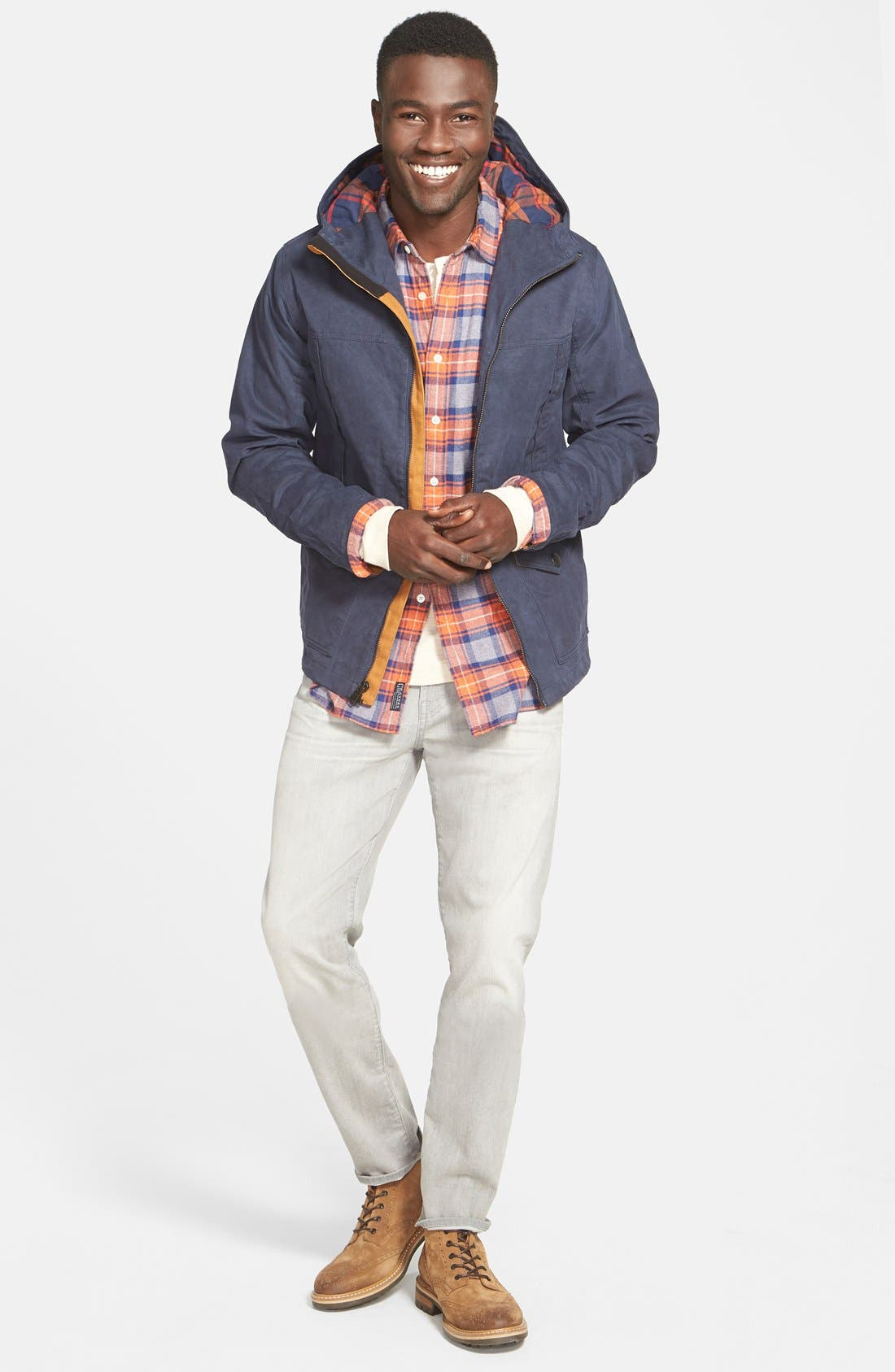 Alternate Image 4  - Timberland 'Mount Davis' Waxed Cotton Hooded Jacket