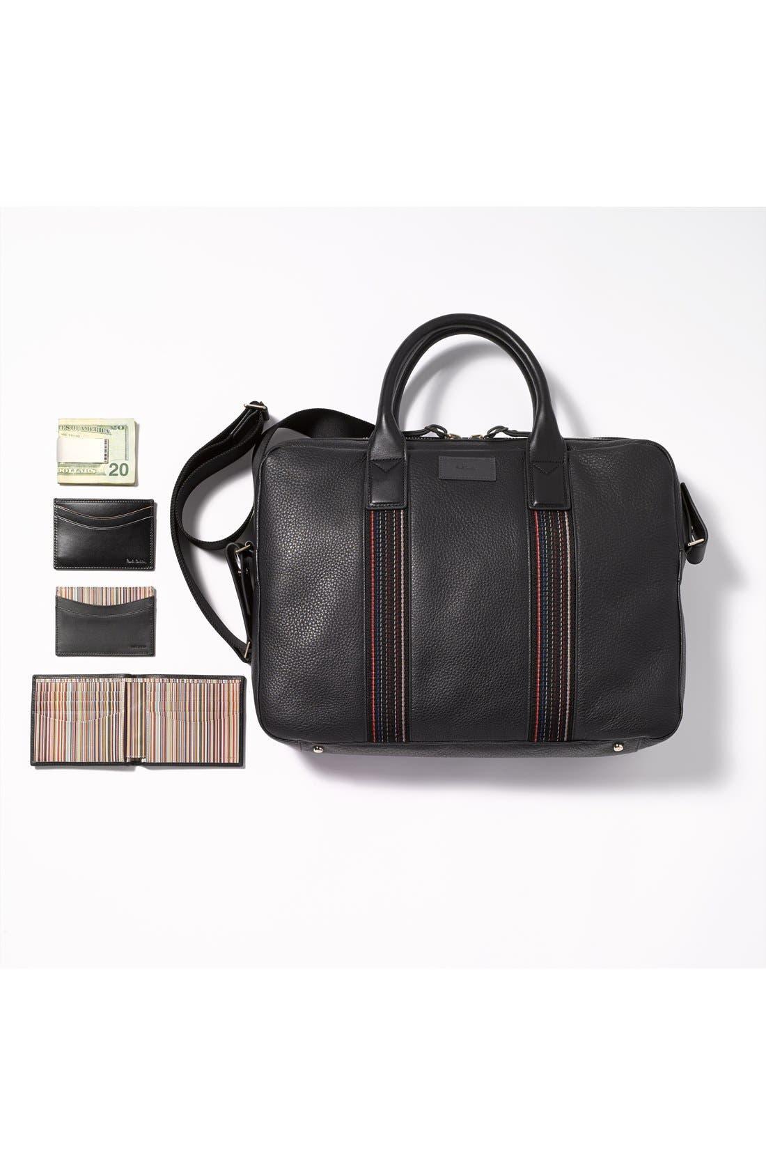 Alternate Image 4  - Paul Smith Interior Stripe Leather Billfold