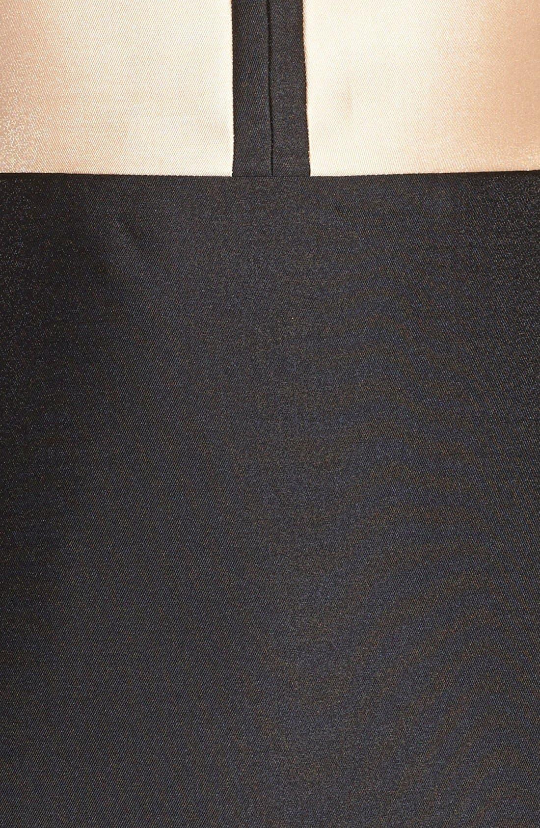 Alternate Image 4  - ERIN erin fetherston 'Eliza' Colorblock Twill Fit & Flare Dress