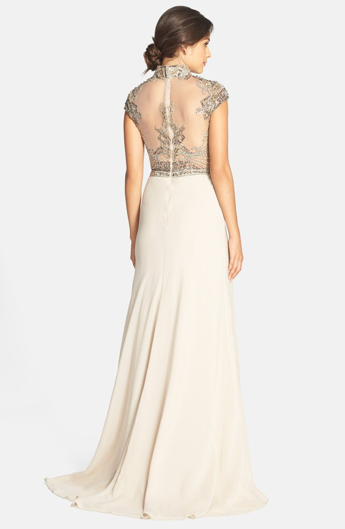 Alternate Image 2  - Terani Couture Embellished High Neck Gown